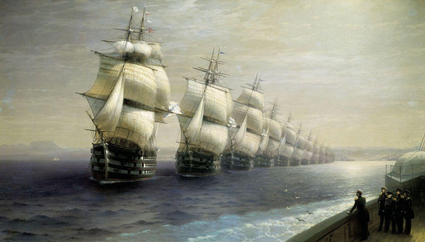 Смотр Черноморского флота в 1849