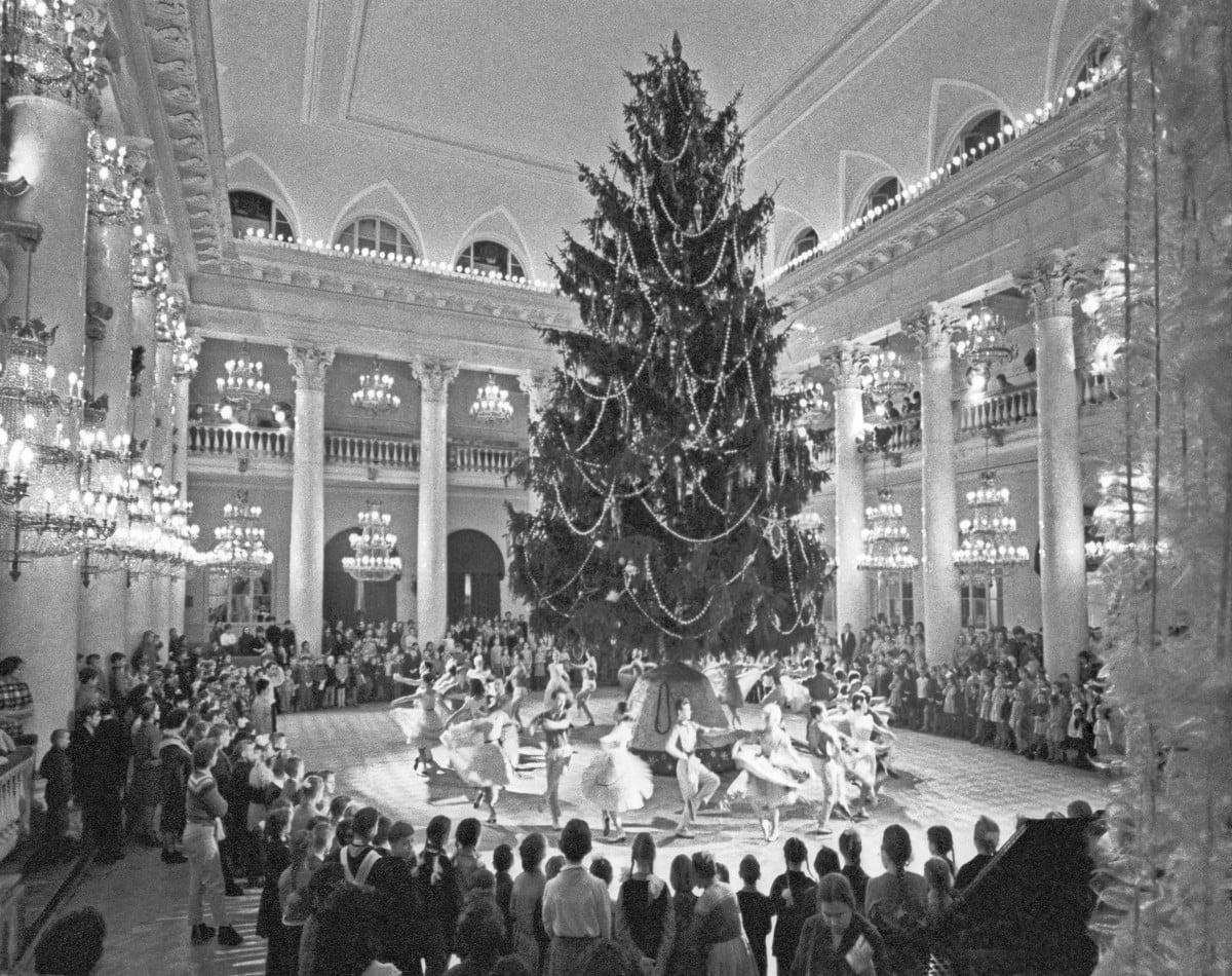 Новогодняя елка в Колонном зале дома Союзов 1950-ые