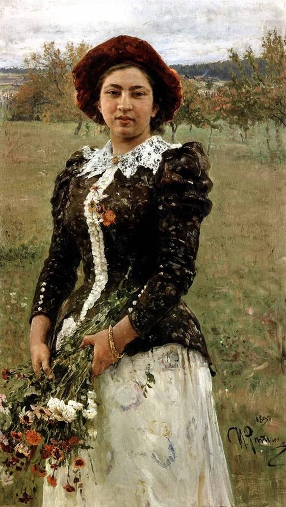Осенний букет -портрет дочери И.Е.Репин