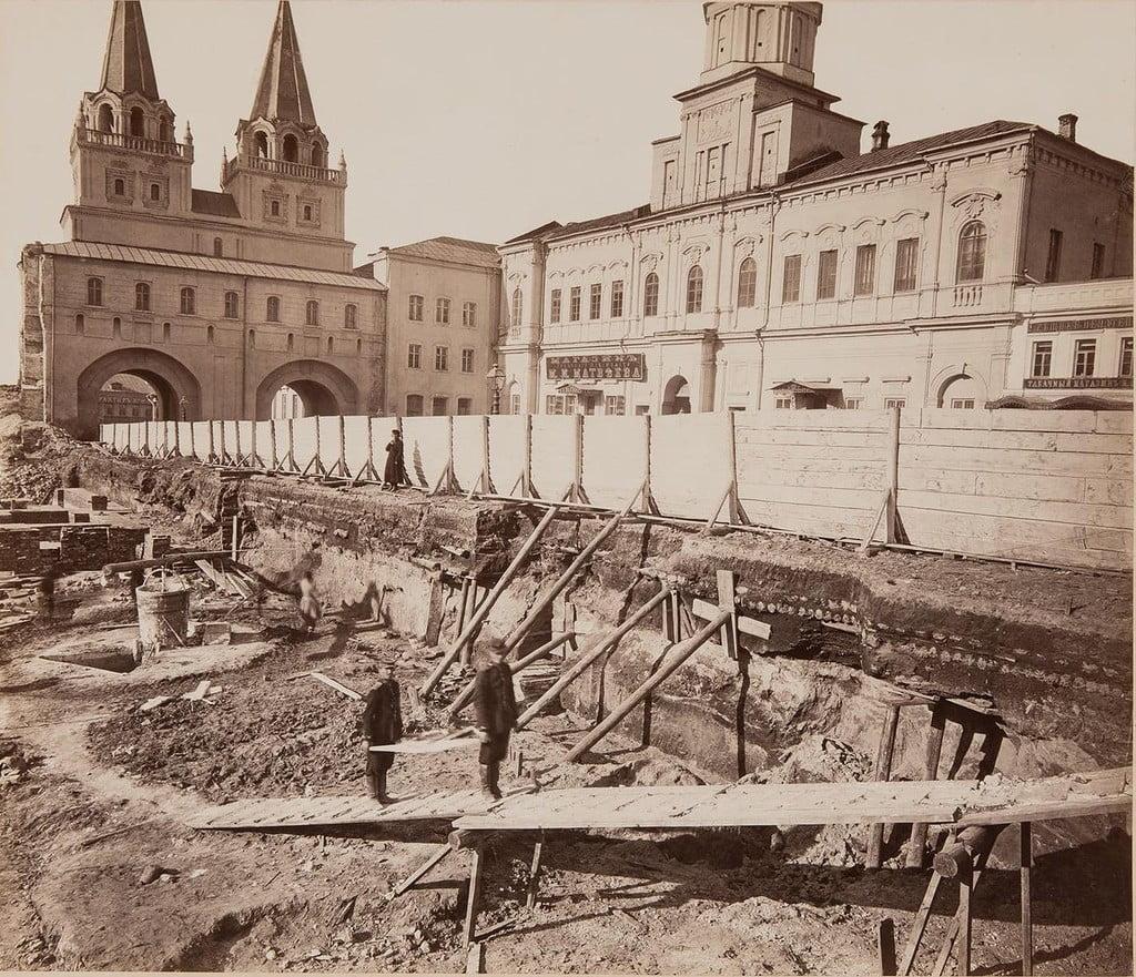 Строительство Исторического музея на Красной площади