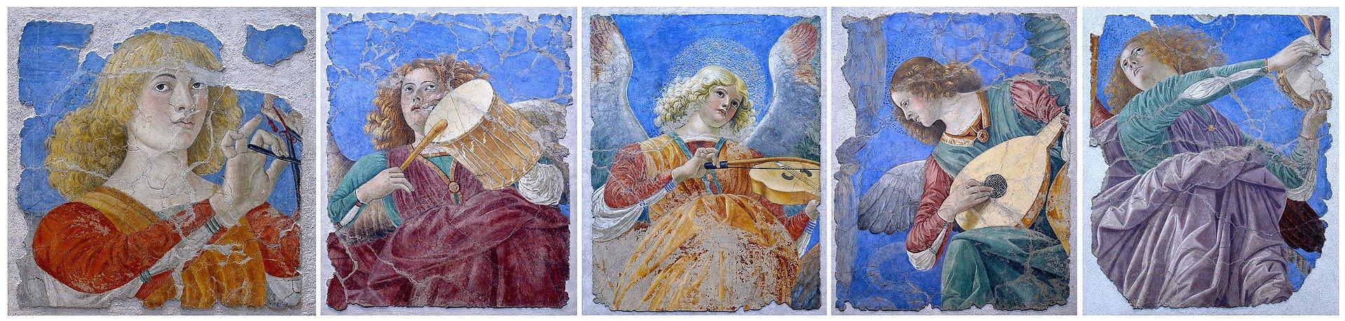 Ангелы Мелоццо-Пинакотека Ватикана