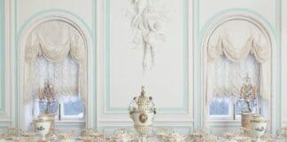 Белая столовая Петергофа. Веджвудский сервиз Екатерины Второй