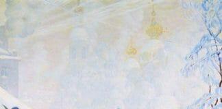Елочный торг. Борис Кустодиев. 1918. Краснодарский краевой худ музей им ФА Коваленко. Краснодар