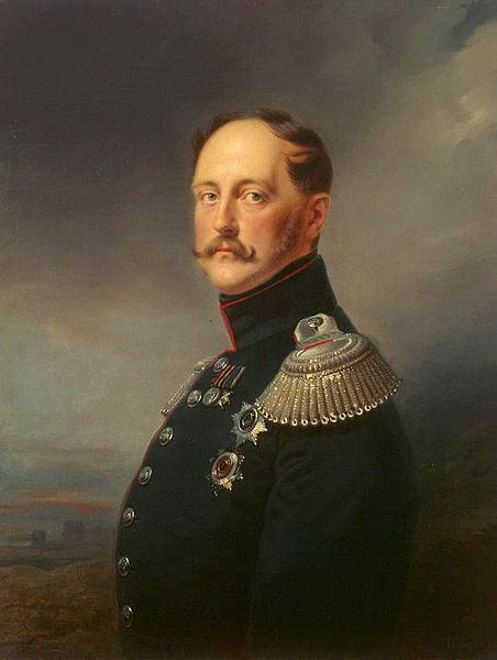 Франц Крюгер. Портрет императора Николая Первого 1852