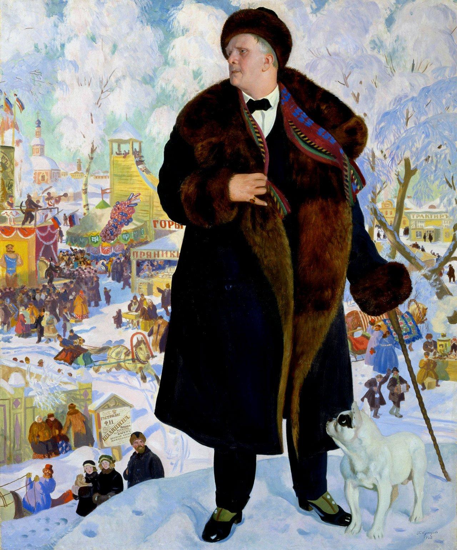 Кустодиев. Федор Шаляпин. РУсский музей