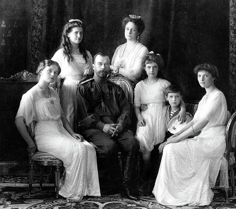 Николай II с семьёй. Ливадия 1913 год
