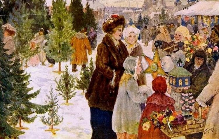 Рождественский базар. БУчкури Александр 1870-1942.1906