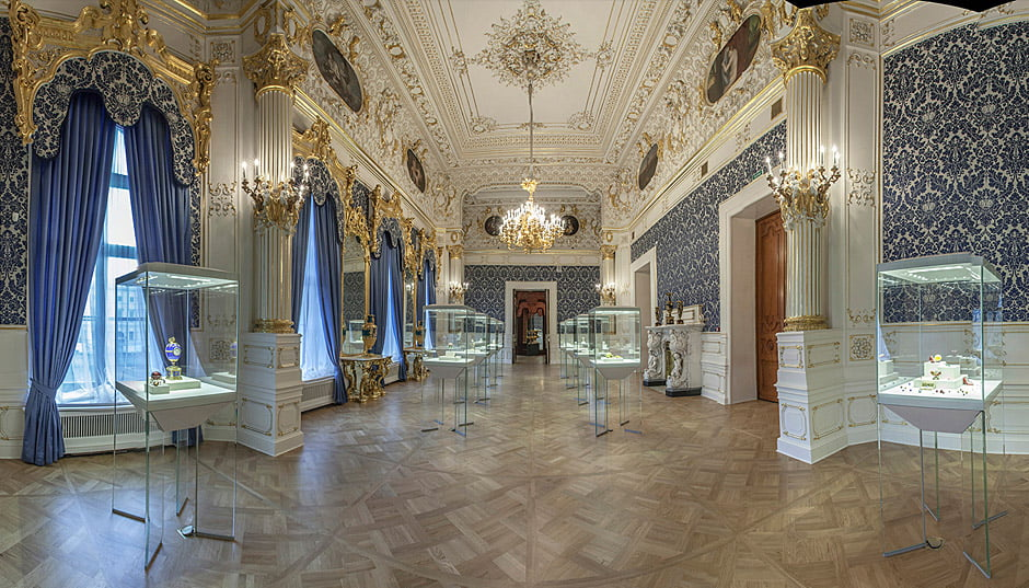 Синяя гостиная. Музей Фаберже