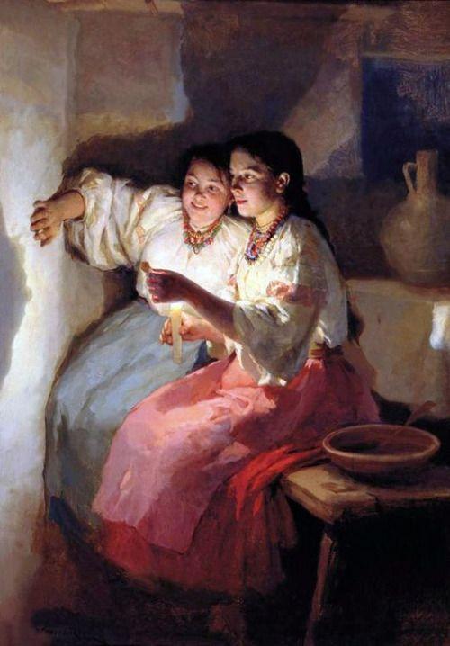 Святочное гадание. Пимоненко 1888