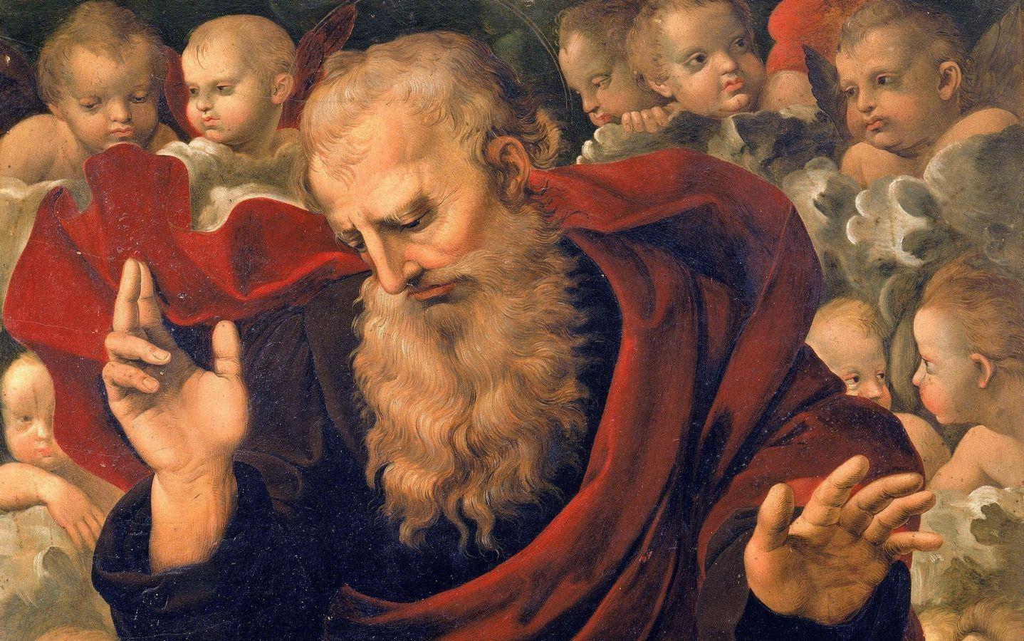 Мастерская Рафаэля Бог-Отец с херувимами