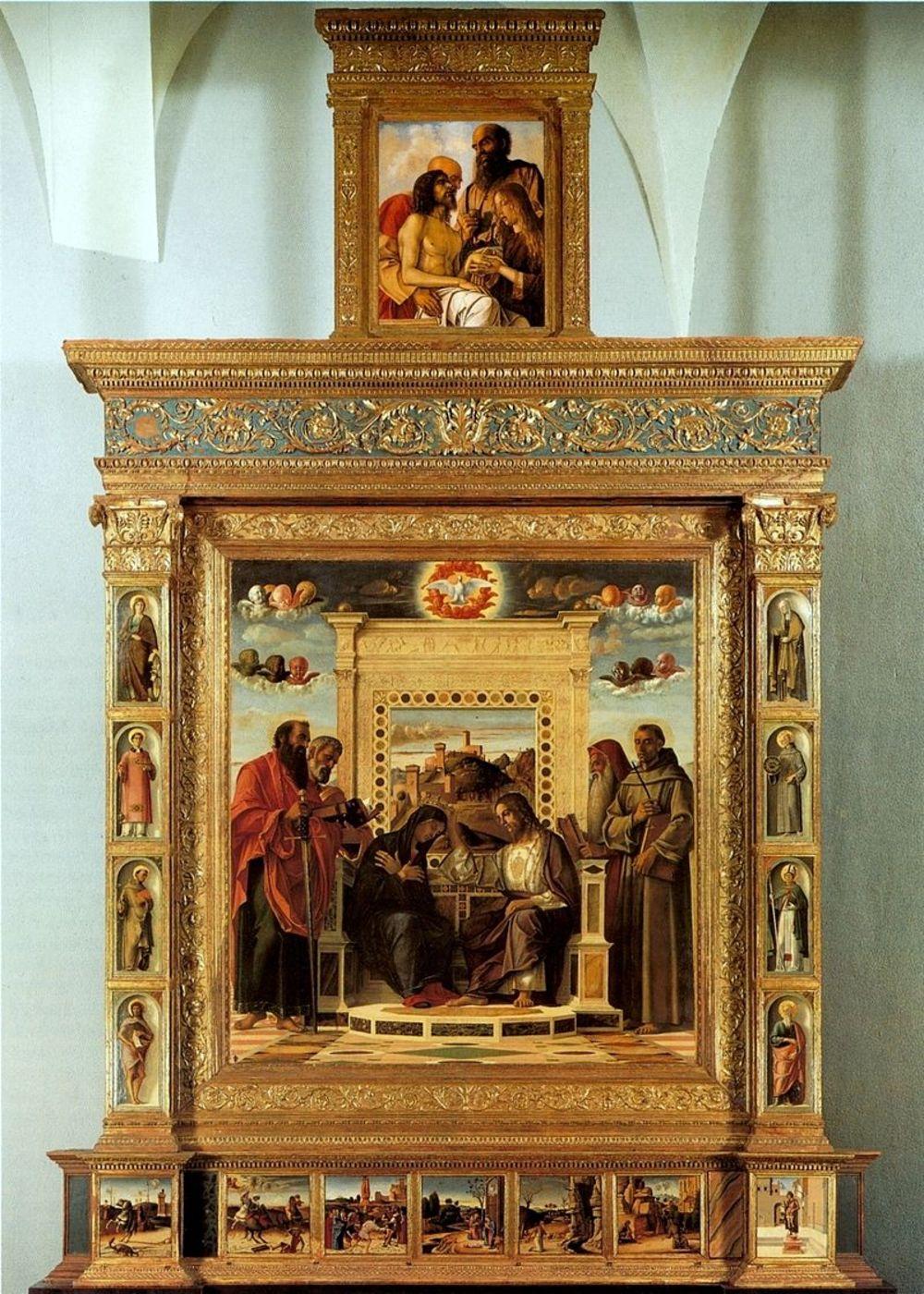Беллини. Алтарь Пезаро. 1470-80. Пезаро, Городские музеи.