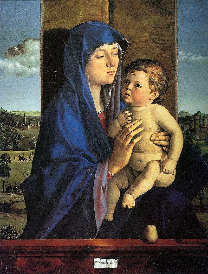 Беллини. Мадонна с младенцем. 1483. Бергамо, Академия Каррара.