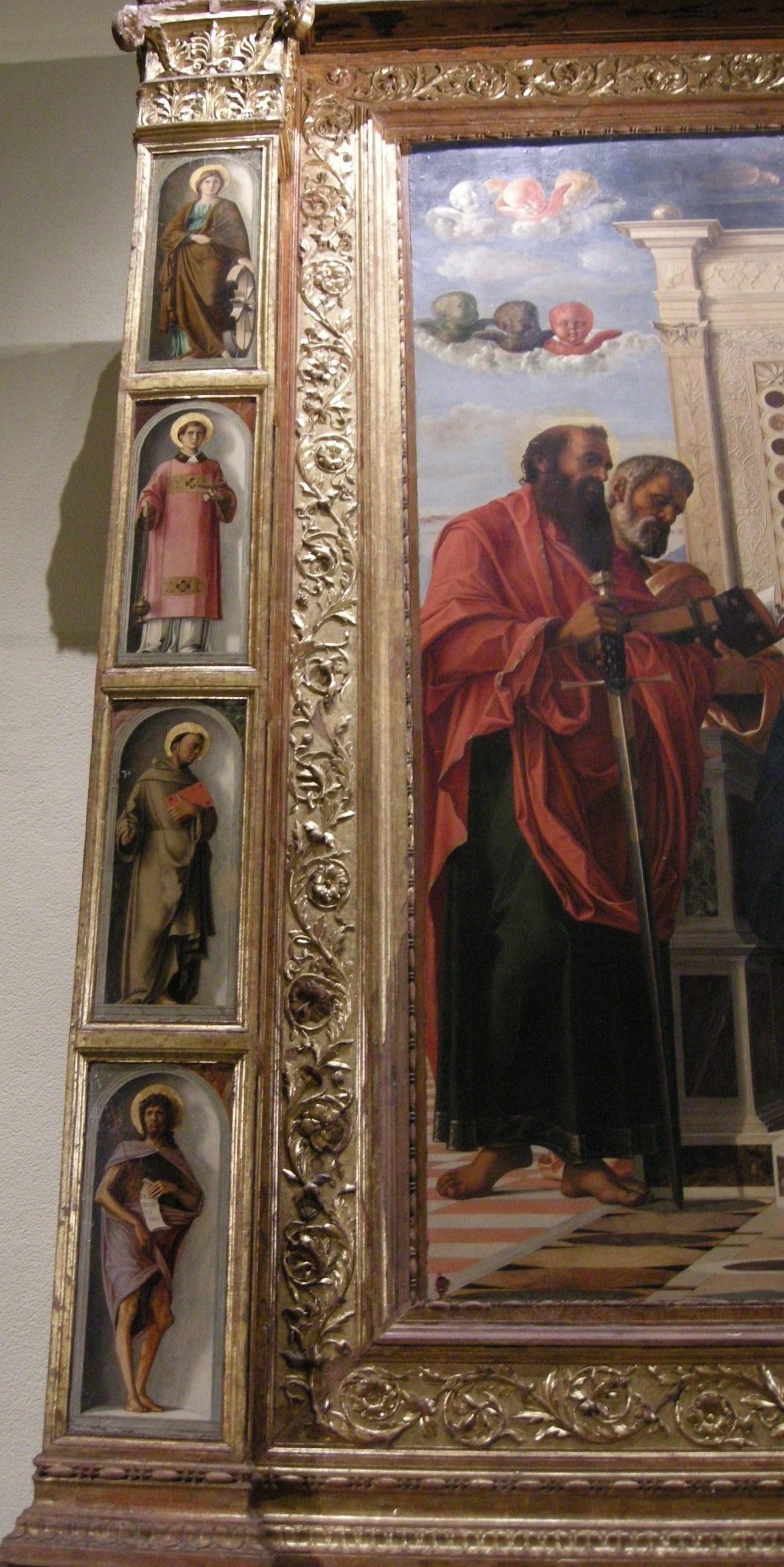 Беллини. Фрагмент Алтарь Пезаро. 1470-80. Пезаро, Городские музеи.