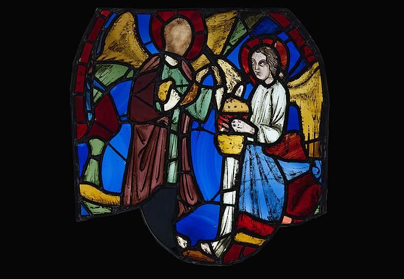 Два ангела с чашей. Иллюстрация к Апокалипсису. Сент-Шапель