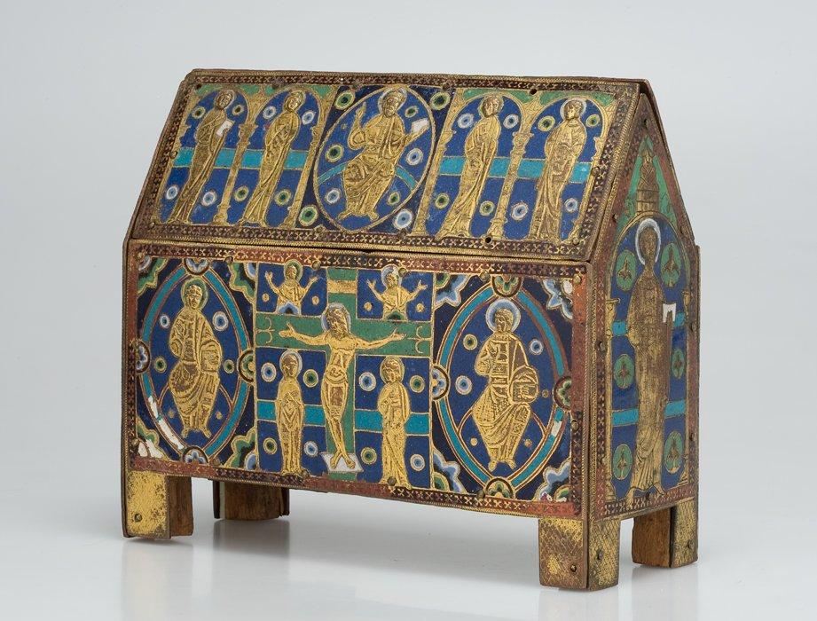 Ковчег с изображением Христа во славе, Распятия и святых-Сент-Шапель