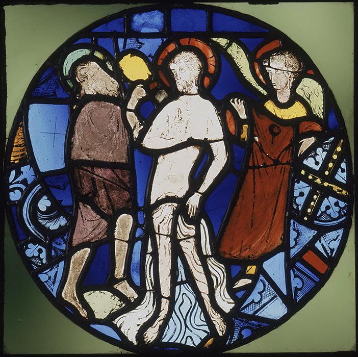 Крещение Христа. Витраж Сент-Шапель