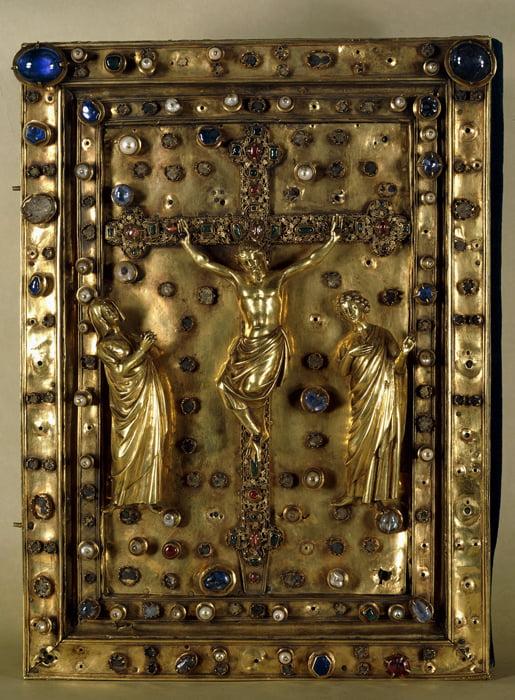 Нижняя крышка переплета Евангелия с изображением Распятия. Сент-Шапель