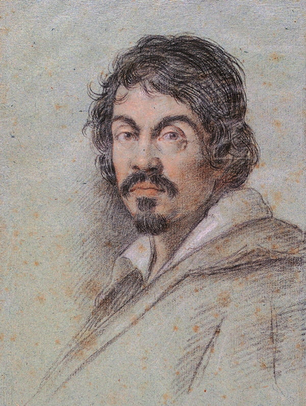 Портрет Караваджо. Оттавио Леони. Около 1600 года. Флоренция. Библиотека Маручеллиана