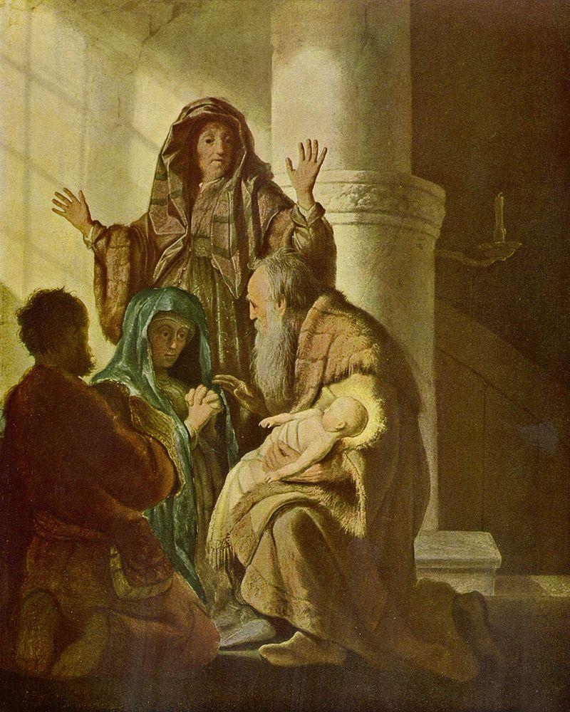 Рембрант ван рейн. Симеон Богоприимец 1627-1628