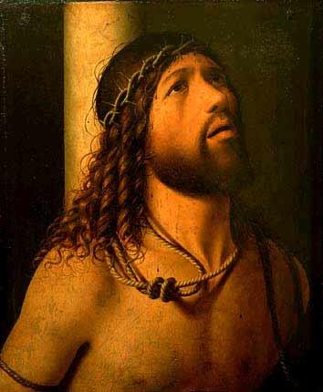 "Антонелло да Мессина. ""Христос у колонны"". Лувр (Франция)"