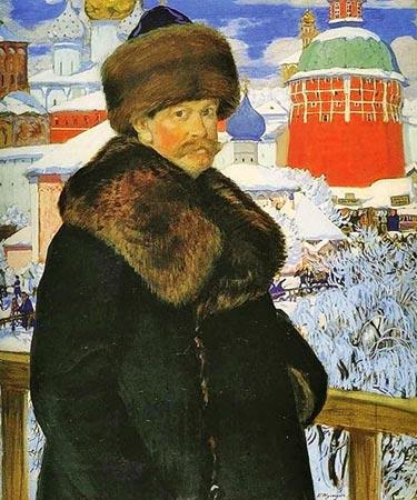 Кустодиев. Автопортрет. 1912. Галерея Уффици (Флоренция)