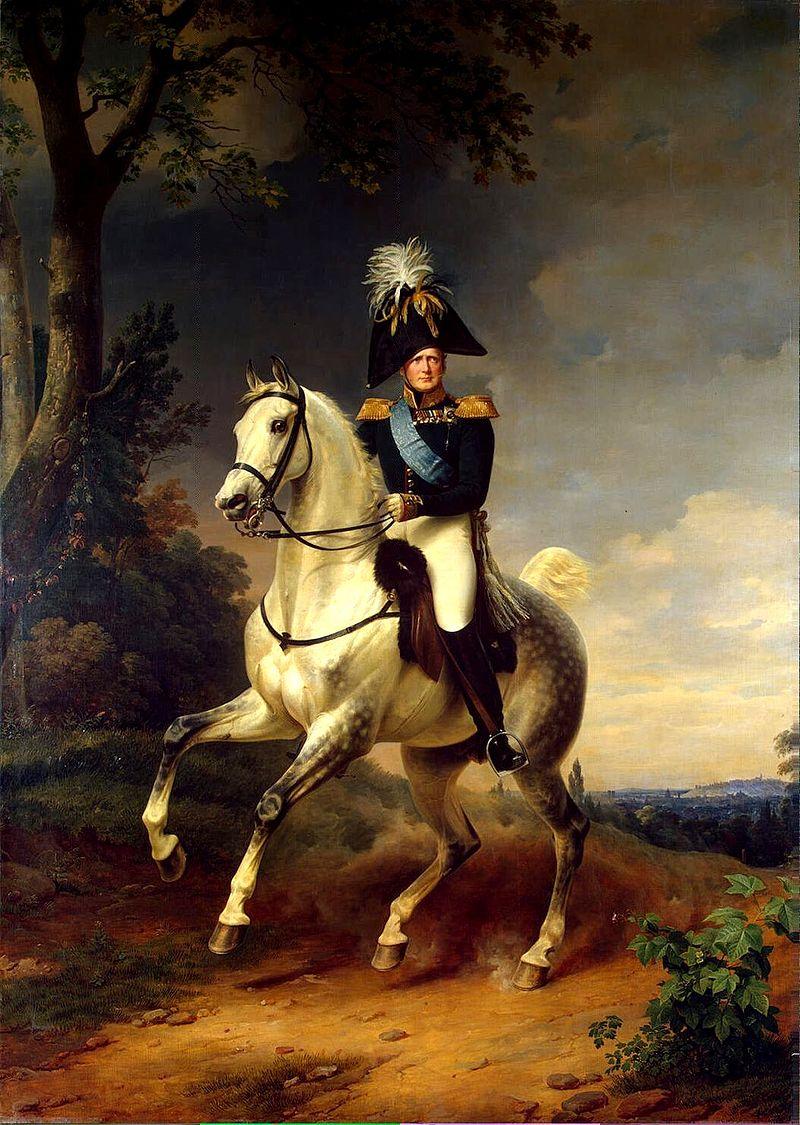 Александр I в 1814 году под Парижем