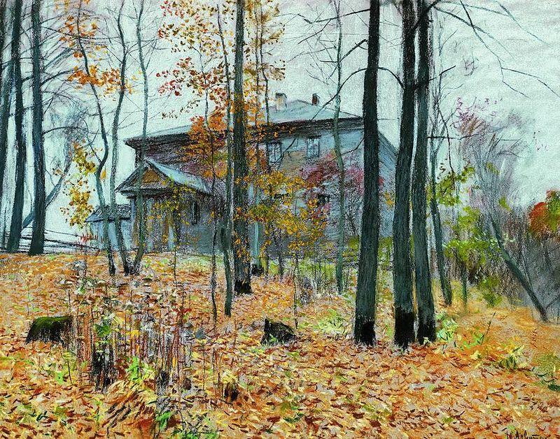 Левитан_Осень._Усадьба
