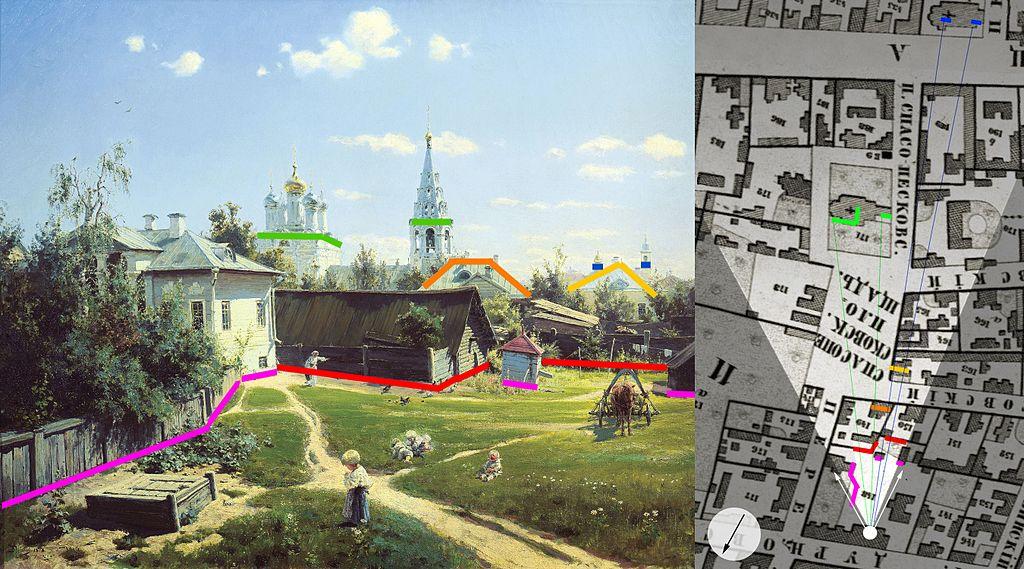 Московский дворик. Поленов Сопоставление