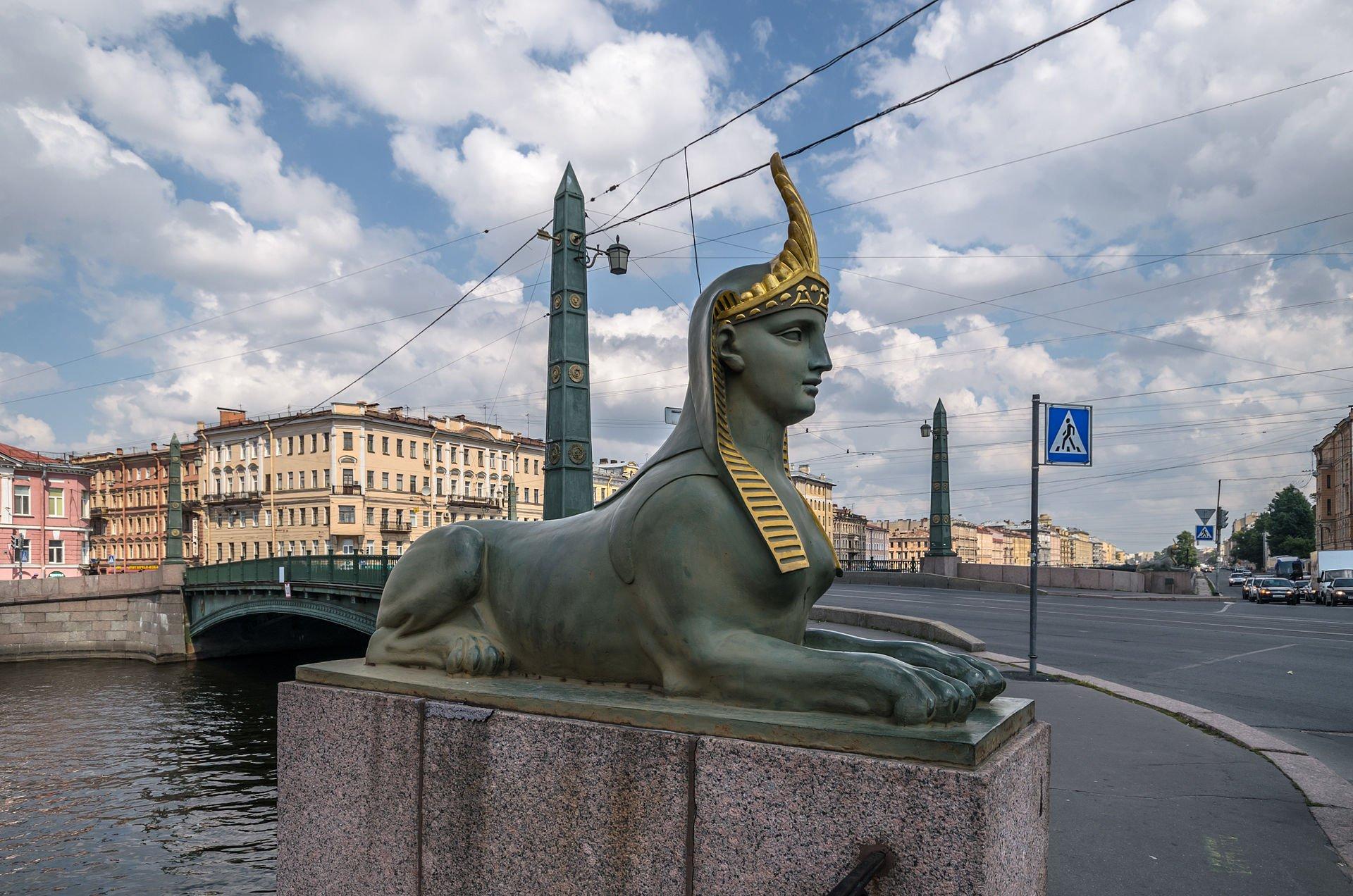Сфинкс Египетского моста Санкт-Петербурга