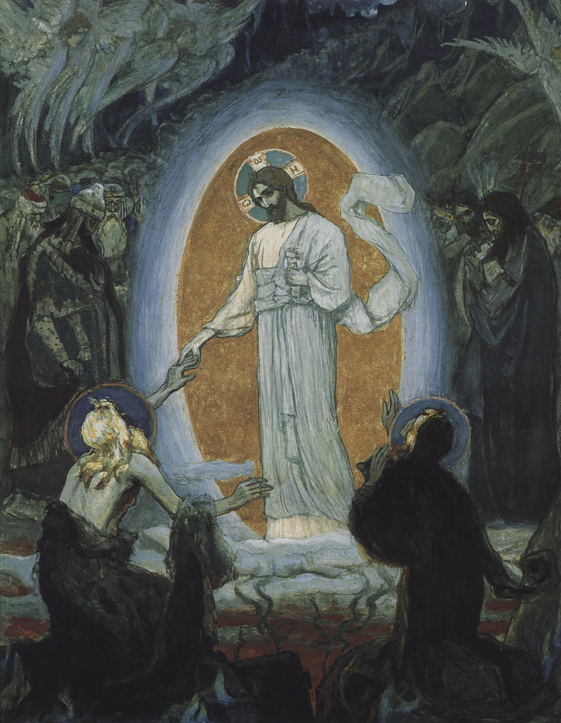 Сошествие Христа в ад. Михаил Нестеров. 1895