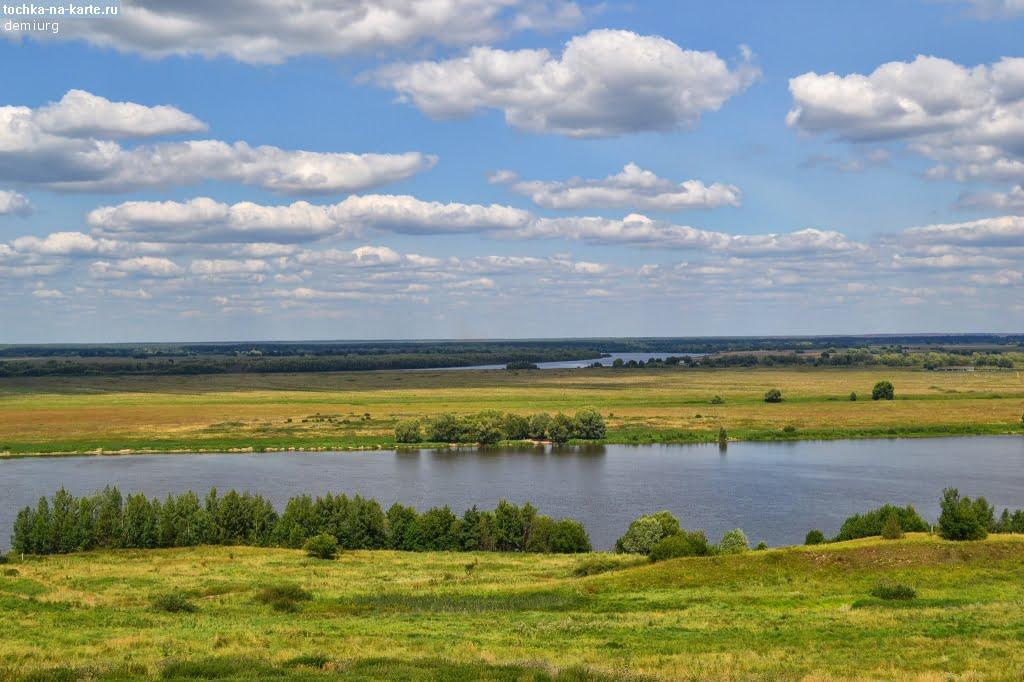 Река Ока на родине Сергея Есенина - селе Константиново
