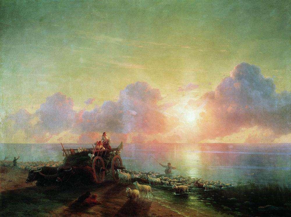 Айвазовский. Купание овец. 1877 год. Иркутский худ музей
