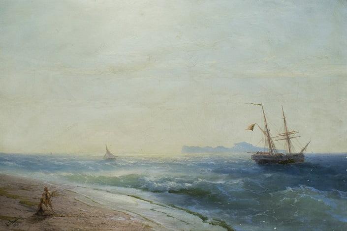 Айвазовский. Остров Капри. 1881 Иркутский худ музей