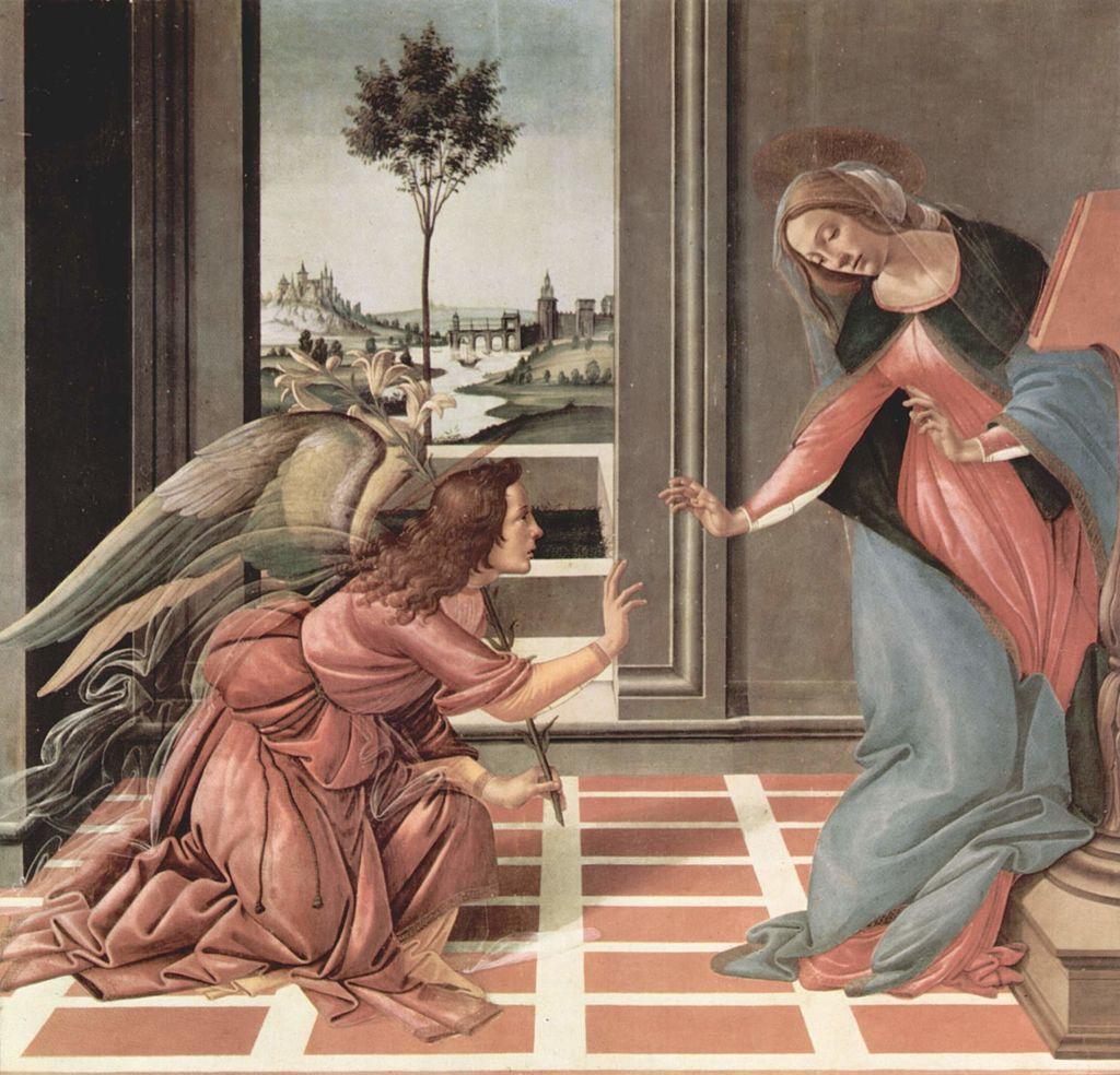 Благовещение. Сандро Боттичелли. 1489—1490 годы. Уффици, Флоренция