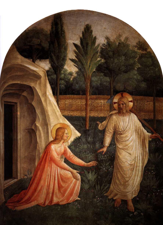 Фра Беато Анжелико. Явление Христа Марии Магдалине. 1438—1445 гг. Флоренция, монастырь Сан Марко.