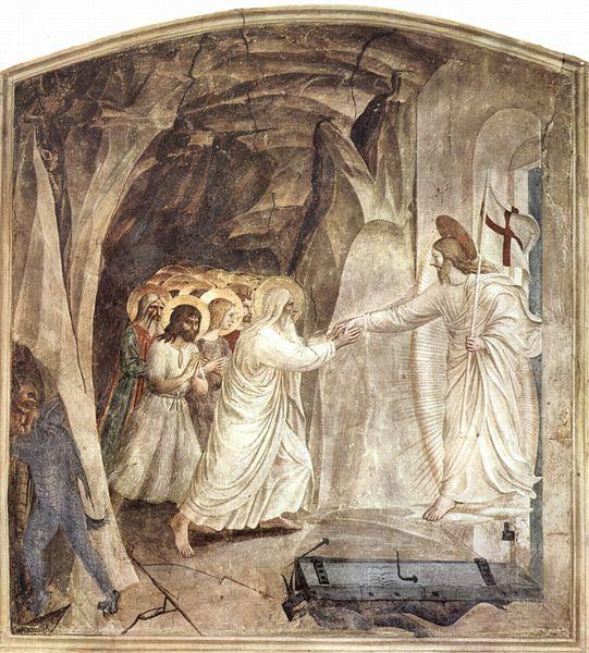 Христос выводит из ада души праведников из ада. Фра беато Анжелико