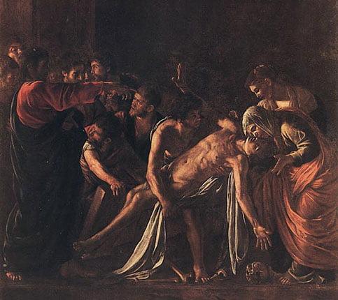 Караваджо. Воскрешение Лазаря. 1609