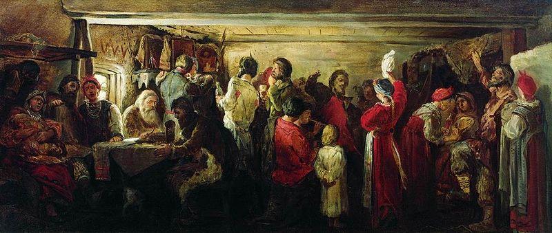 Крестьянская свадьба в Тамбовской губернии, Андрей Рябушкин