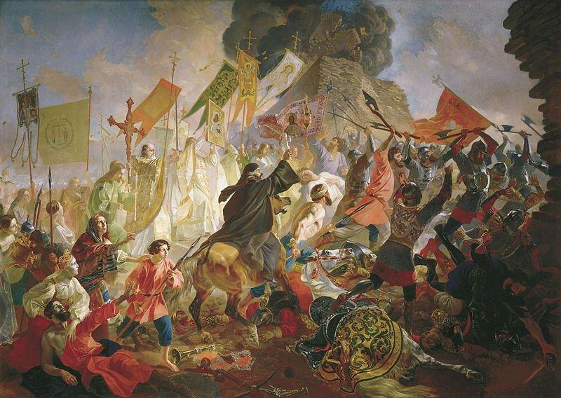"""""""Осада Пскова королём Стефаном Баторием в 1581 году"""". Карл Брюллов, 1843"""