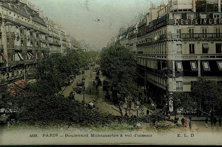 Бульвар Монмартр. Фотография начала XX века