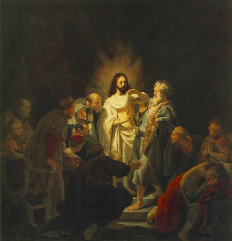 Рембрандт ван Рейн. Неверие апостола Фомы. 1655