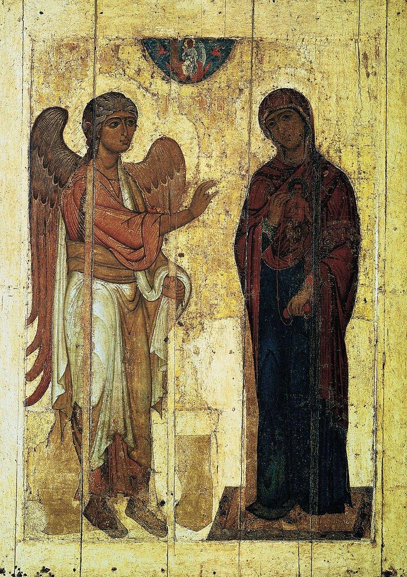 Устюжское Благовещение. Начало XII века. Третьяковская галерея