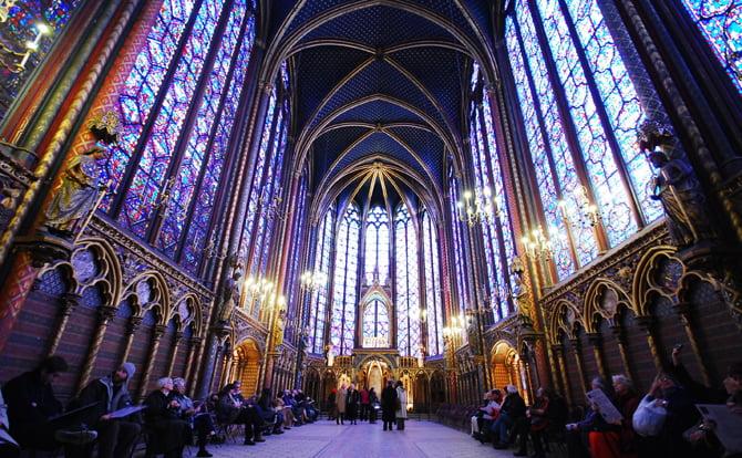 Неземная красота капеллы Сент-Шапель (Париж)