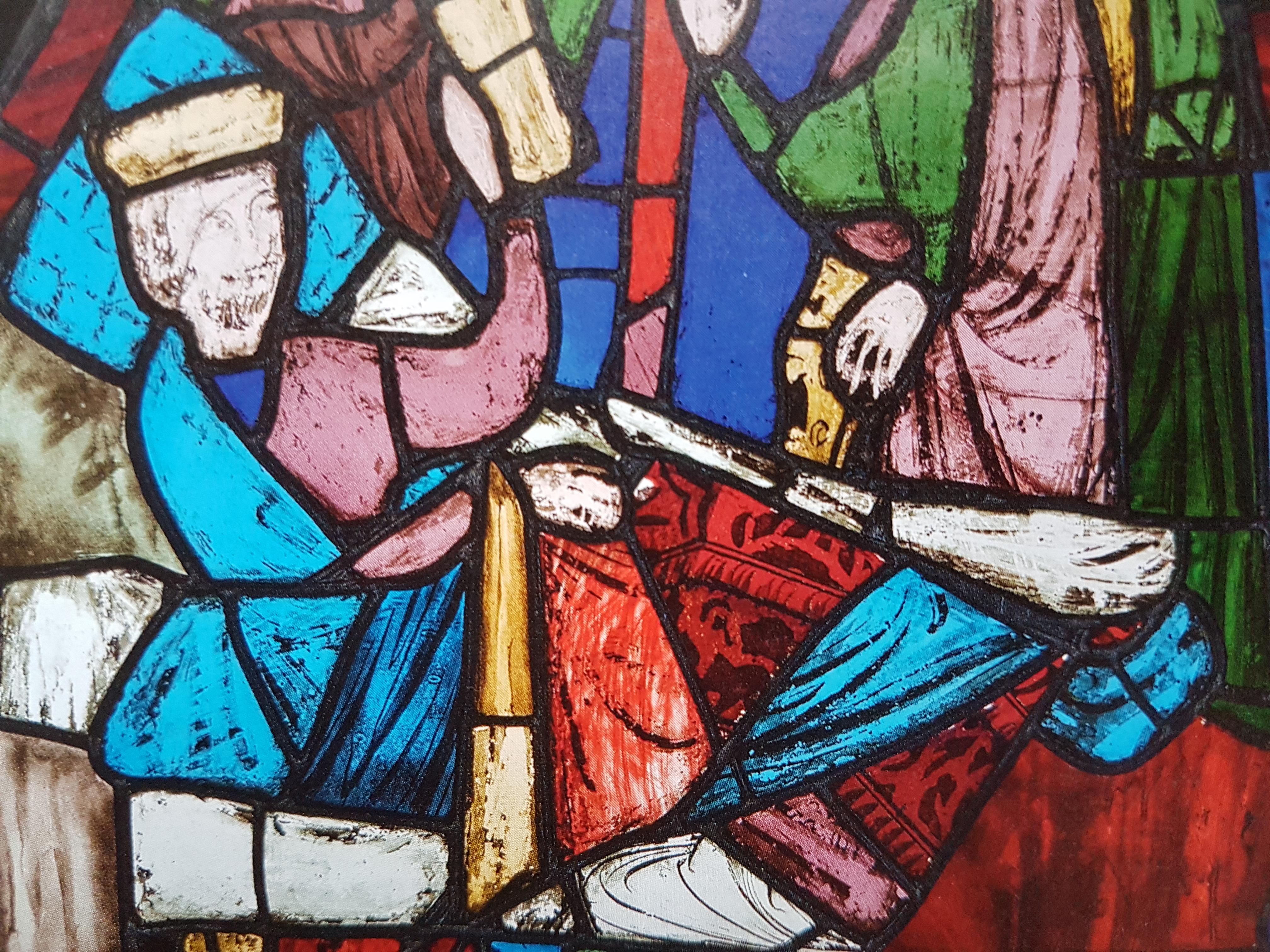Витраж царь на смертном одре. Людовик святой и сокровища сент-шапель