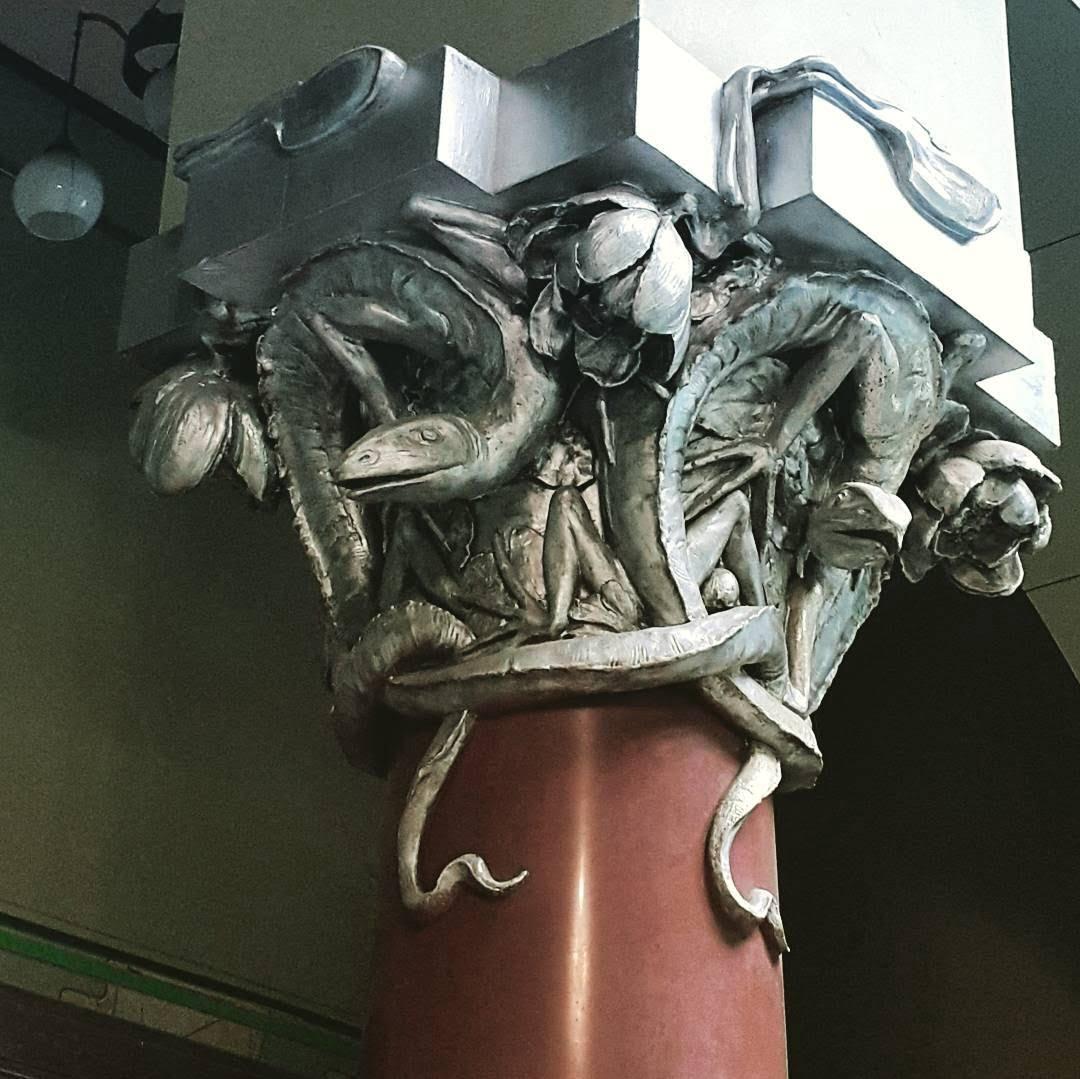 Фрагмент украшения лестницы в доме Горького. архитертор Шехтель