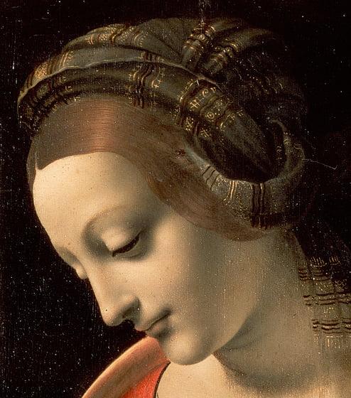 Леонардо да Винчи, фрагмент Мадонны Литы (Эрмитаж, Санкт-Петербург)