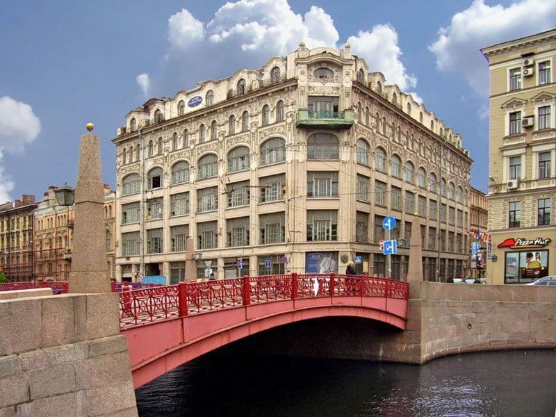 Красный мост через Мойку!