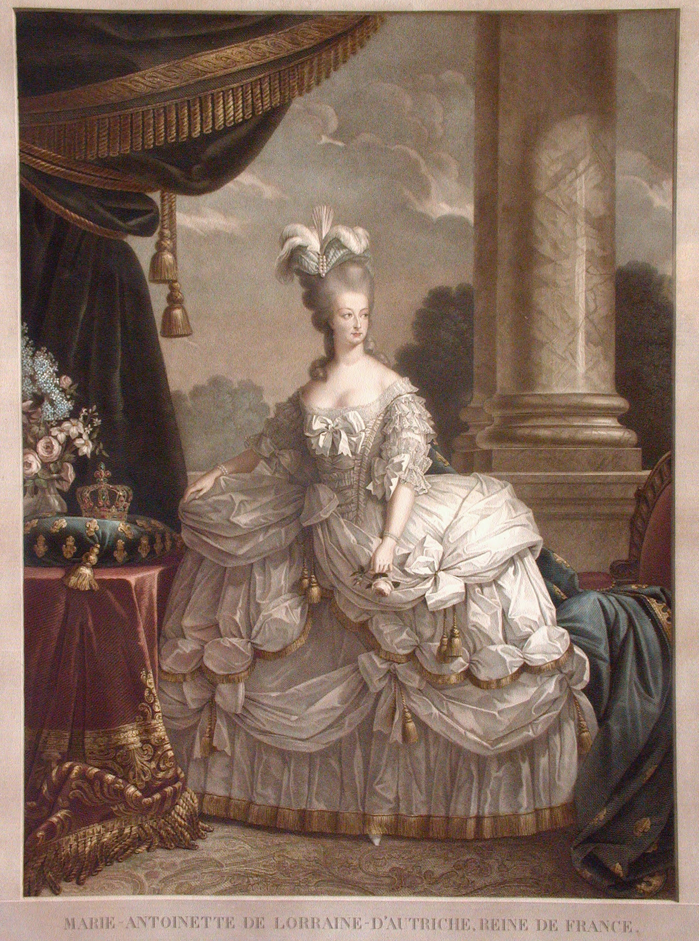 Бартелеми Р. Портрет Марии Антуанетты, последней французской королевы. Конец XVIII века. Вологодская картинная галерея