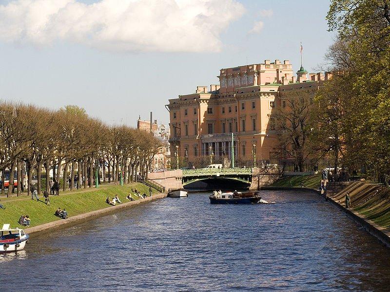 Река Мойка у Михайловского сада. Инженерный замок
