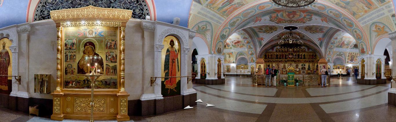 Нижний храм в Храме Христа Спасителя